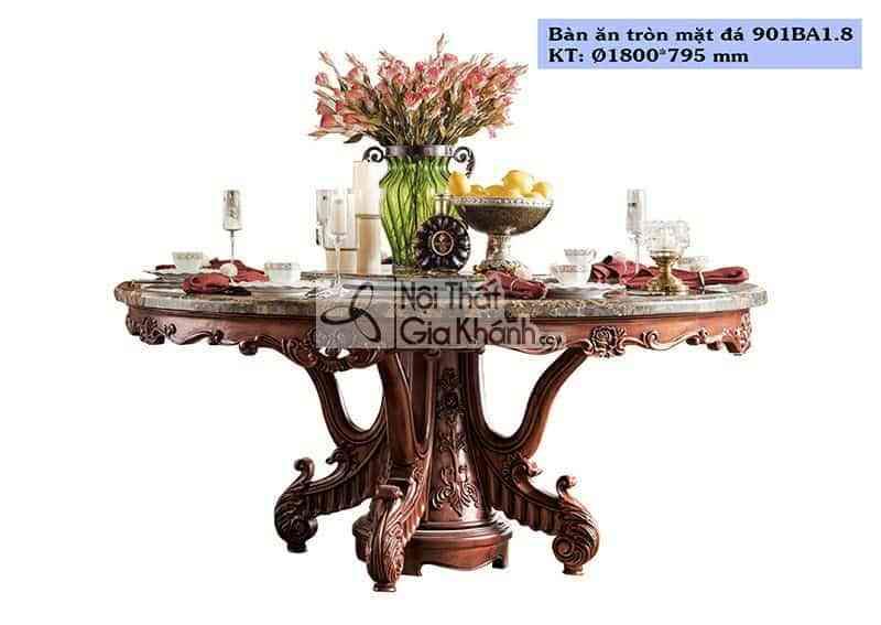 Bàn ăn tròn 1m8 gỗ tự nhiên cao cấp 901BA1.8
