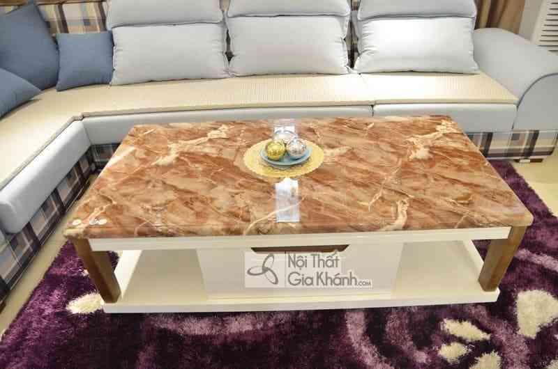 Bàn trà (Bàn Sofa) 1m4 mặt đá chữ nhật gỗ phòng khách hiện đại H827-2 - ban tra ban sofa 1m4 mat da chu nhat go phong khach hien dai h827 2 2
