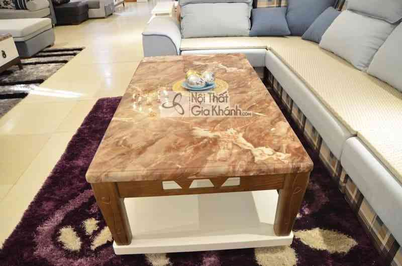 Bàn trà (Bàn Sofa) 1m4 mặt đá chữ nhật gỗ phòng khách hiện đại H827-2 - ban tra ban sofa 1m4 mat da chu nhat go phong khach hien dai h827 2 3