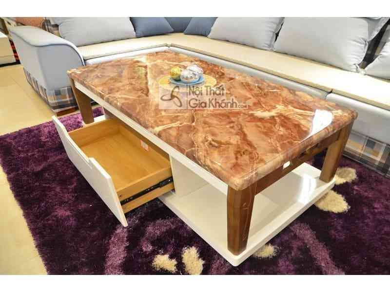 Bàn trà (Bàn Sofa) 1m4 mặt đá chữ nhật gỗ phòng khách hiện đại H827-2 - ban tra ban sofa 1m4 mat da chu nhat go phong khach hien dai h827 2
