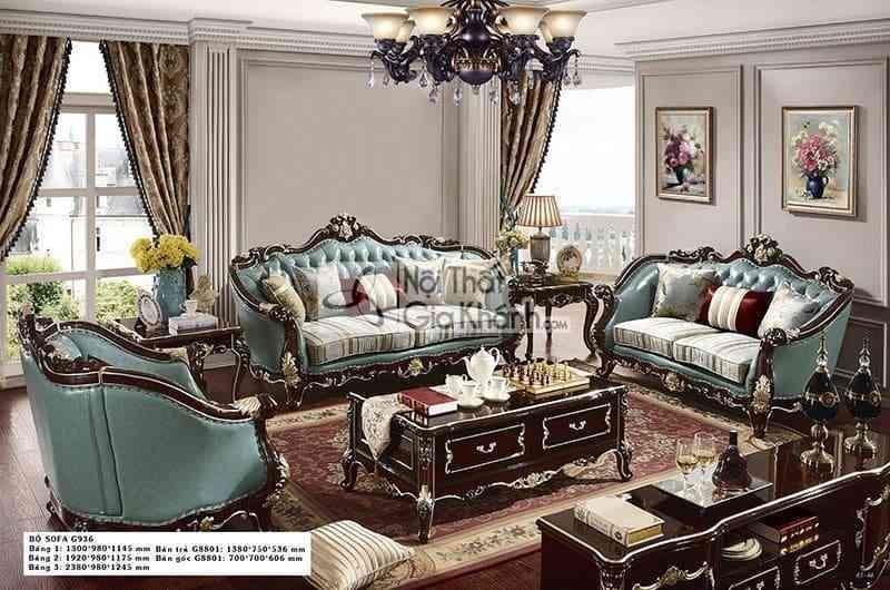 Bàn trà (Bàn Sofa) gỗ tân cổ điển cao cấp G8801BT1.38 - ban tra ban sofa go tan co dien cao cap g8801bt1.38 2