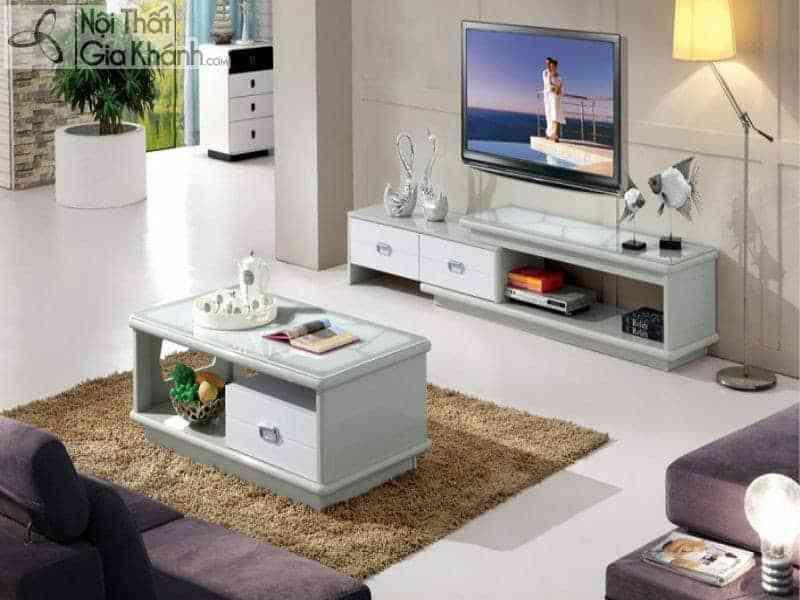 Bí quyết lựa chọn Kệ tivi phòng khách nhà ống sao cho đẹp nhất - ban tra ke tivi dong bo hc81 1 hy23 1