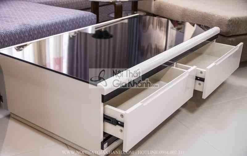 ban tra mat kinh cuong luc cao cap j3311l 2 - Bàn trà (Bàn sofa) gỗ phòng khách hiện đại mặt kính nhập khẩu BT3311K