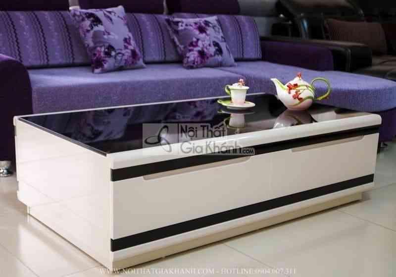 ban tra mat kinh cuong luc cao cap j3311l 5 - Bàn trà (Bàn sofa) gỗ phòng khách hiện đại mặt kính nhập khẩu BT3311K