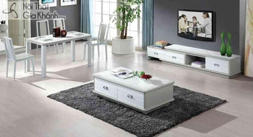 Bàn ghế phòng khách nhỏ đẹp cho nhà chung cư - ban tra va ke tivi dong bo hc83 1 hy25 1