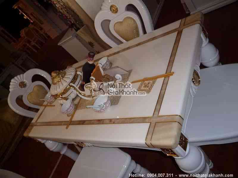 Bàn trà vuông mặt đá gỗ sồi tự nhiên mạ vàng nhập khẩu KH303BT0.9