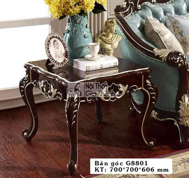 Bàn trà vuông tân cổ điển phong cách Pháp BG8801GG