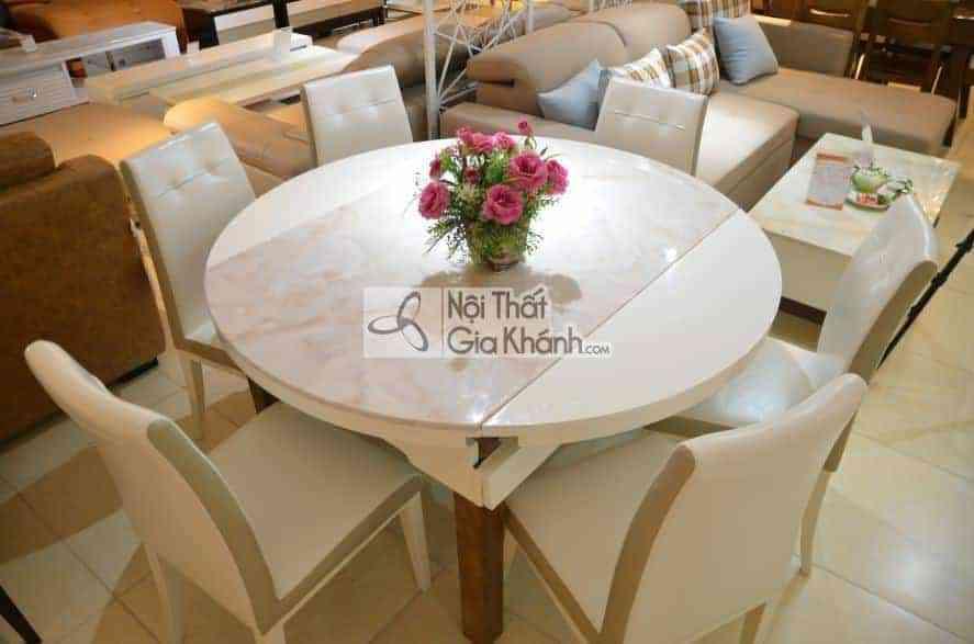 Bộ bàn ăn đa năng kết hợp ghế da HT5753-2BG