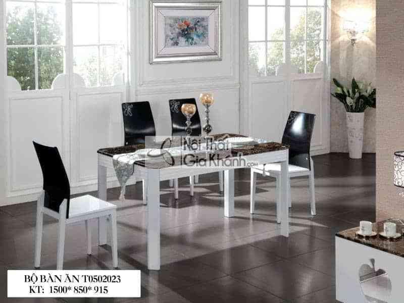 Bộ bàn ăn mặt đá nâu T0502023
