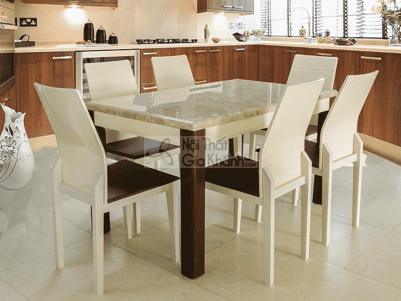 Bộ bàn ăn mặt đá vàng 1m35 nhập khẩu T0513032