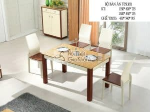 Bộ bàn ăn mặt đá vàng T0513031