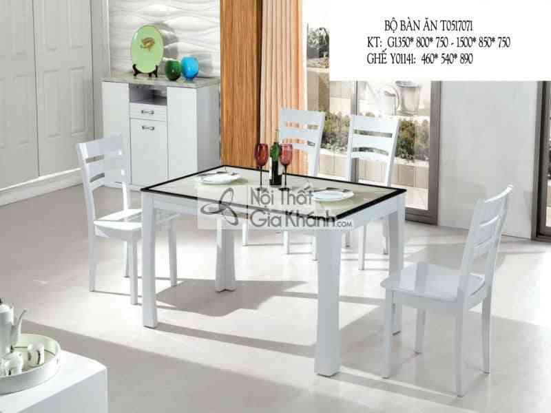 Bộ bàn ăn mặt kính viền đơn giản T0517071