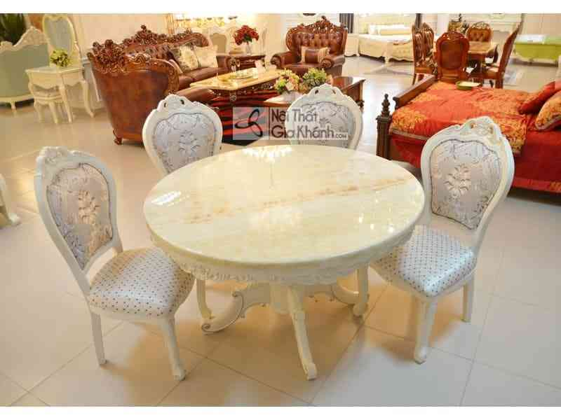 Bộ bàn ăn tân cổ điển sang trọng 8861