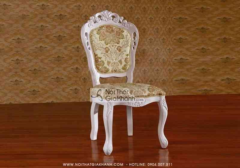 bo ban an tron mat da kh206bb 3 - Ghế ăn gỗ tự nhiên vải gấm cao cấp GA210S