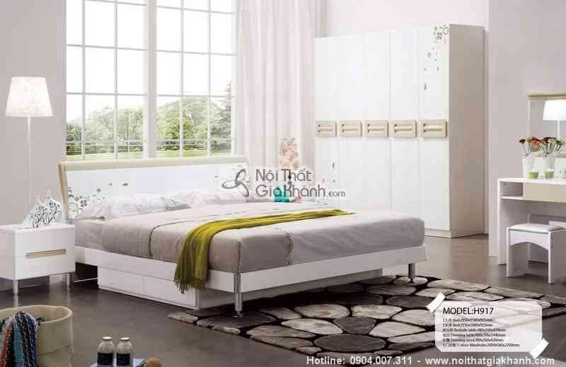 Bộ giường ngủ cỏ may mắn HĐ917BG