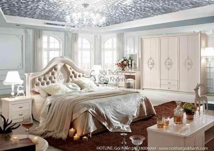 Bộ giường ngủ da nhập khẩu JINDIAN phong cách Hàn Quốc A682BG18