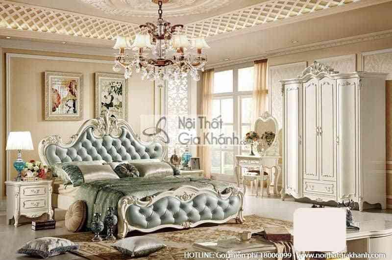 Táp đầu giường phong cách Pháp H8802B - bo giuong ngu em ai 1m8 dong french white 8801abg