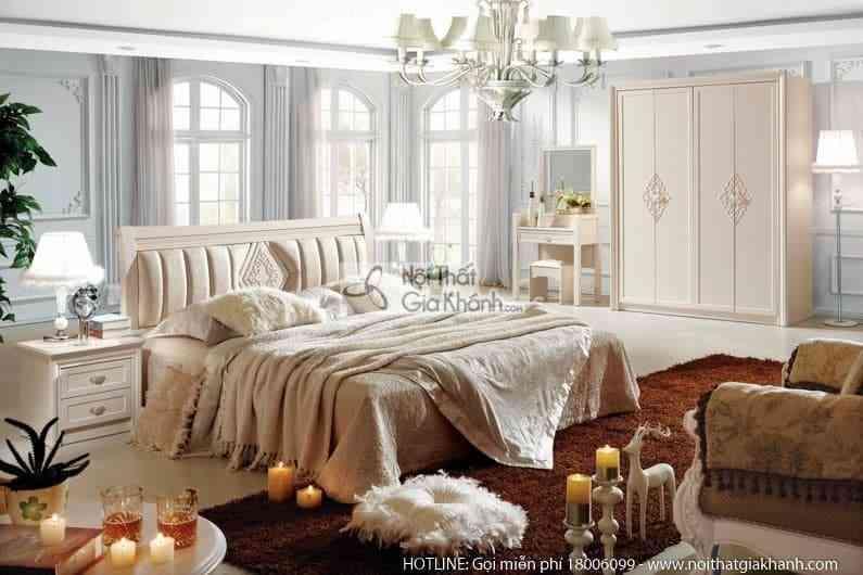 Bộ giường ngủ JINDIAN cao cấp nhập khẩu Hàn Quốc A683BG
