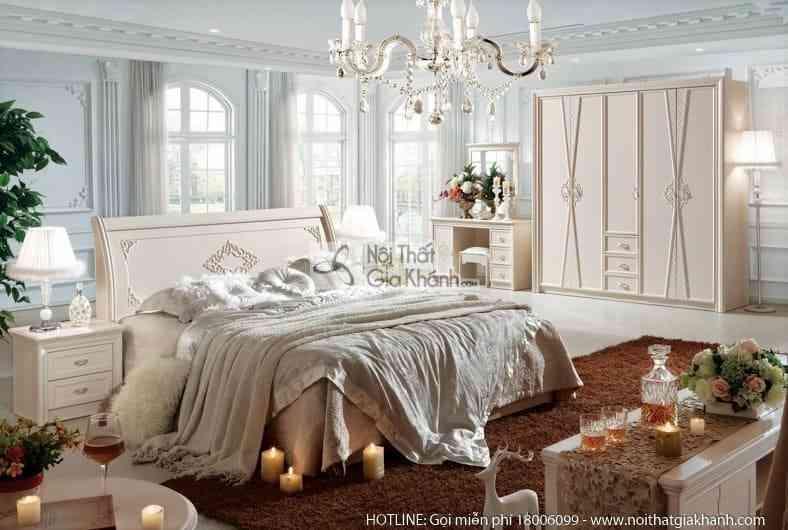 Bộ giường ngủ JINDIAN cao cấp phong cách Hàn Quốc A861BG