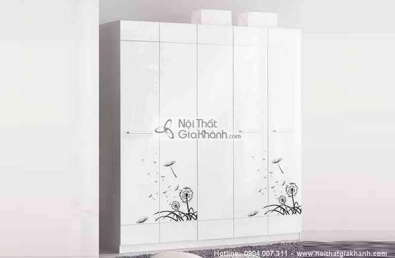 bo phong ngu canh hoa mau trang den sang trong hd201bg 7 - Bộ phòng ngủ cánh hoa màu trắng đen sang trọng HĐ201BG