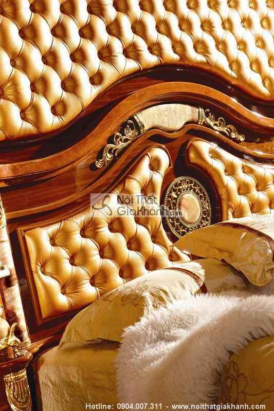Giường ngủ gỗ sồi cao cấp KH511AL - bo phong ngu go tu nhien tan co dien chau au kh511bg 5