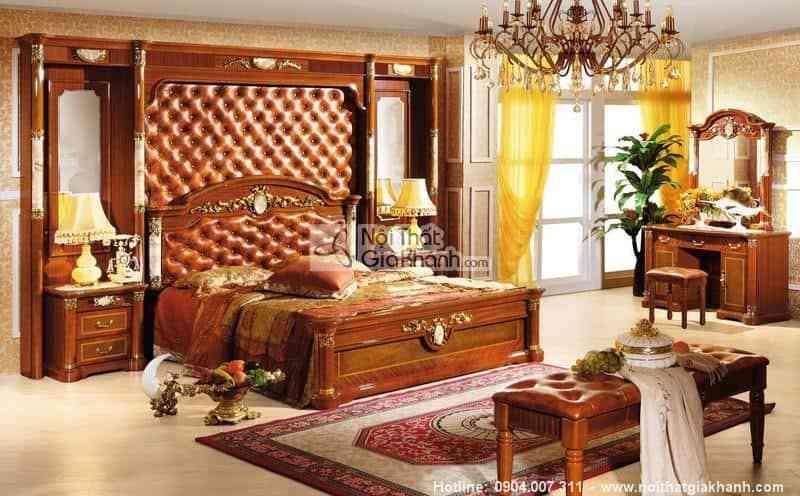 Bộ phòng ngủ mang phong cách cổ điển Châu Âu KH510