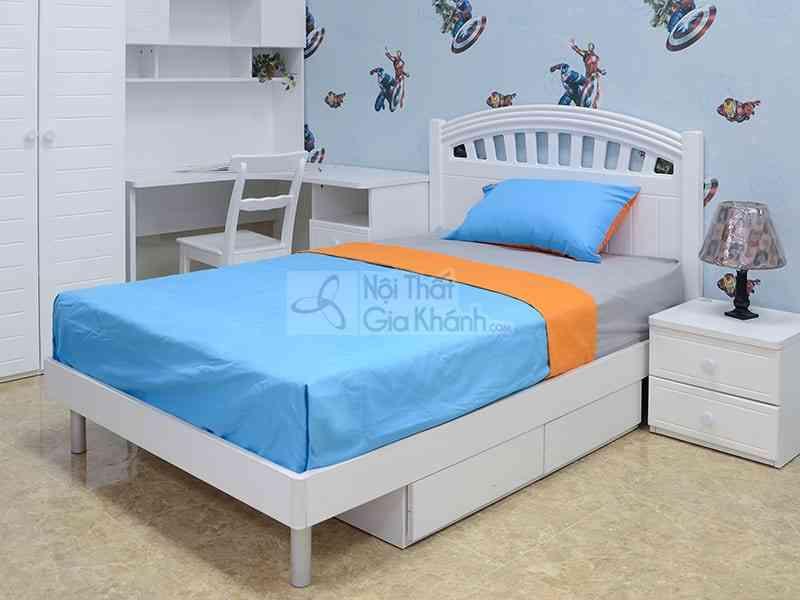 Giường ngủ trẻ em đẹp giá rẻ nhất - bo phong ngu trang tinh khoi 1m2 cho be gai 912 2