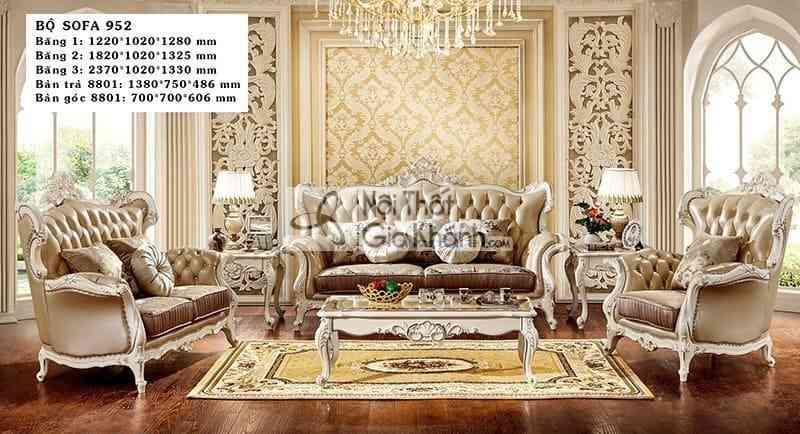 Bộ sofa tân cổ điển nhập khẩu cao cấp H952SF