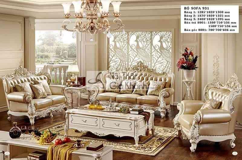 Bộ sofa tân cổ điển sang trọng cho phòng khách H931SF - bo sofa tan co dien sang trong cho phong khach h931sf
