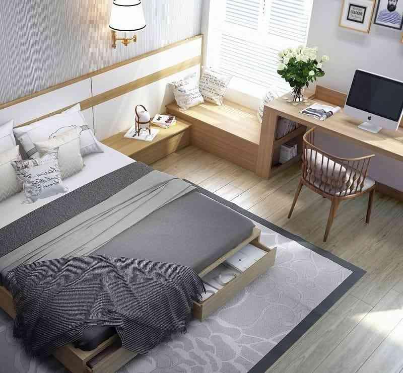 Cách bố trí nội thất phòng ngủ diện tích 9m2 - cach bo tri noi that phong ngu dien tich 9m2 5