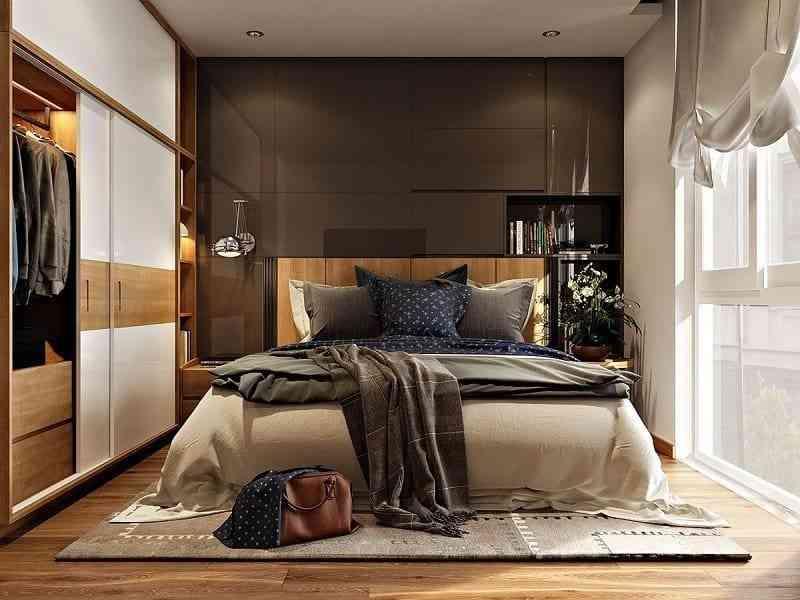 Cách bố trí nội thất phòng ngủ diện tích 9m2 - cach bo tri noi that phong ngu dien tich 9m2 8