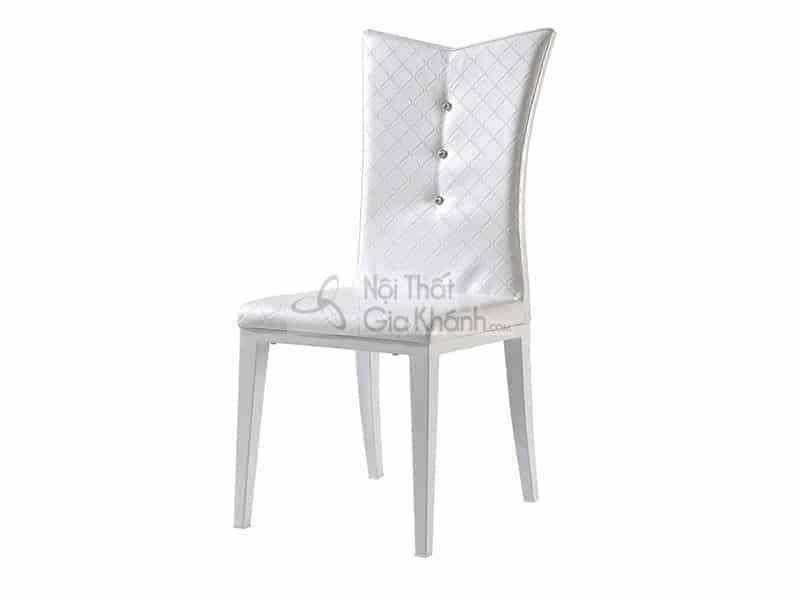 Ghế ăn da cao cấp cho bàn ăn màu trắng nhập khẩu Y149019
