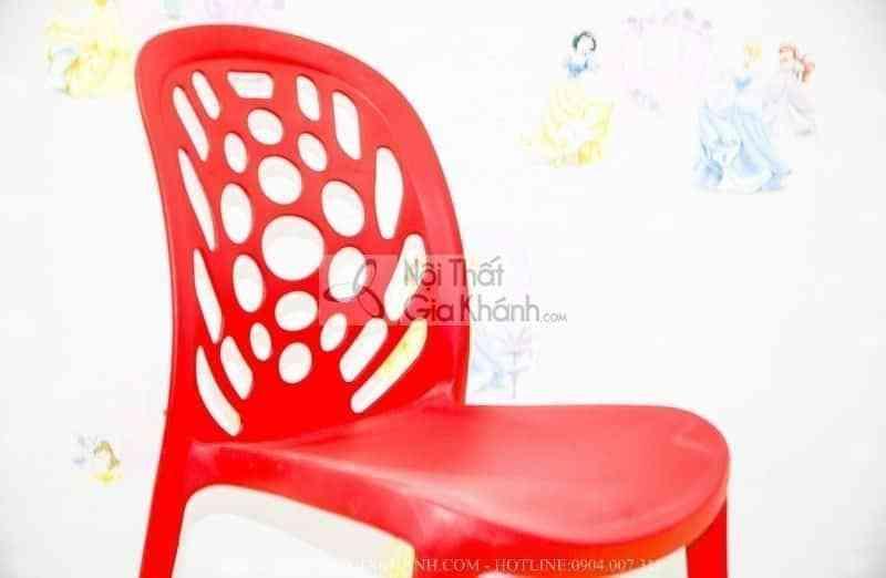 Ghế nhựa học sinh nhập khẩu màu đỏ CK3 - ghe nhua hoc sinh nhap khau mau do ck3 2