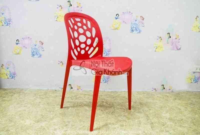 Ghế nhựa học sinh nhập khẩu màu đỏ CK3 - ghe nhua hoc sinh nhap khau mau do ck3