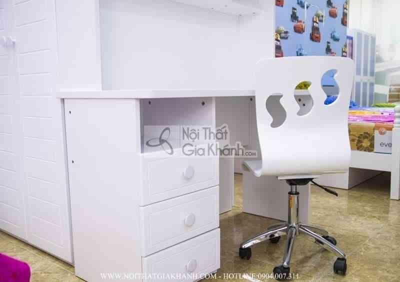 Ghế xoay học sinh nhập khẩu màu trắng H860-1