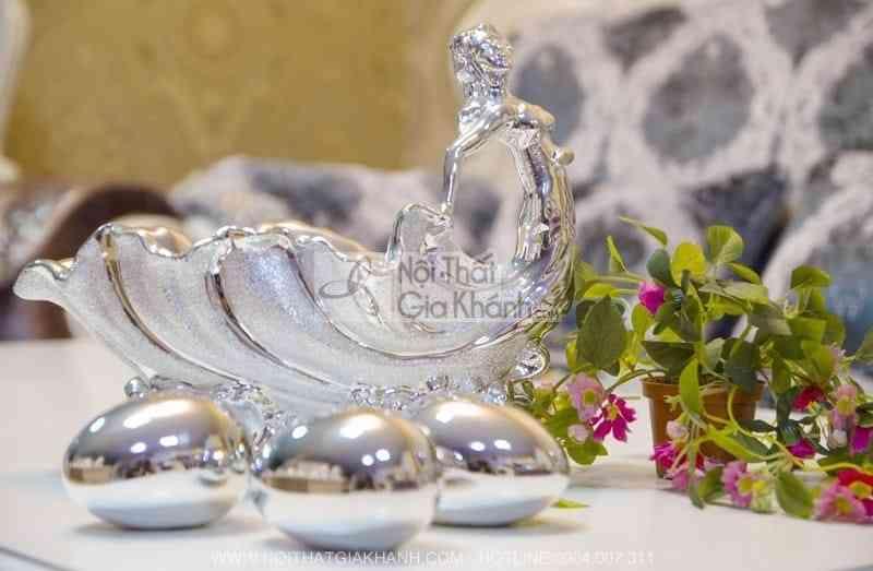 Giỏ trứng mạ bạc quà tặng cao cấp 315-5