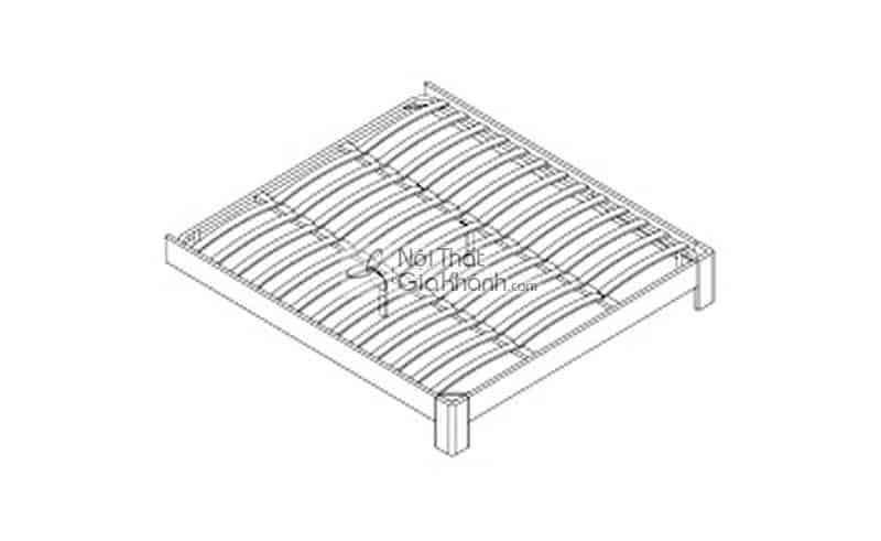 Giường hộp gỗ 1m8 cao cấp nhập khẩu HĐ201A