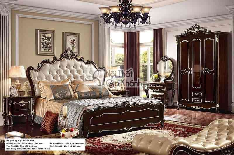 Giường ngủ 1m8 gỗ sồi cao cấp G8826AL