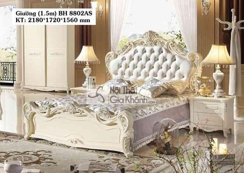 Giường ngủ 1m8 tân cổ điển giá rẻ BH8802AL