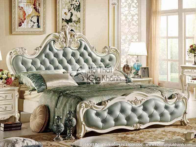 Giường ngủ 1m8 x 2m phong cách Pháp 8801A