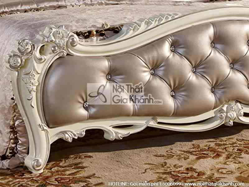 Giường ngủ (1m8x2m) French White 8805AL