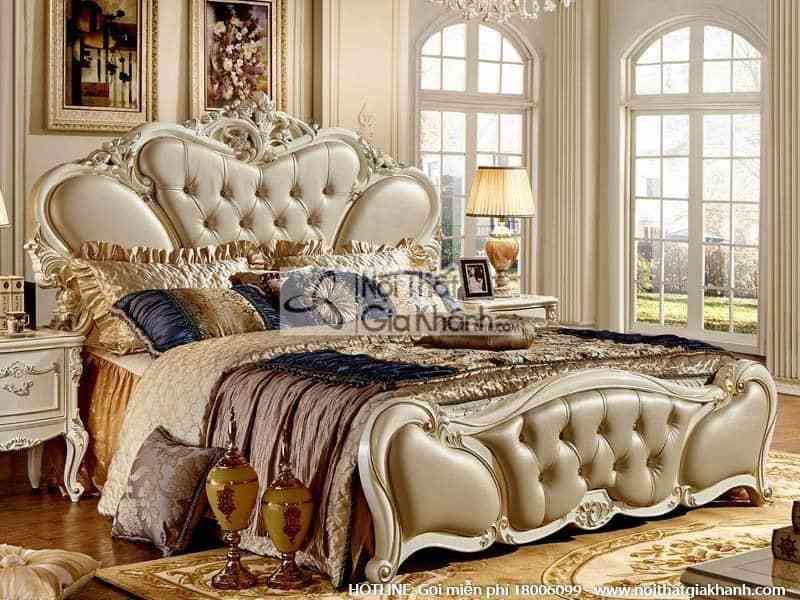 giuong ngu doi em ai phong cach phap 8811al - Bộ giường ngủ êm ái 1m8 phong cách Pháp 8811ABG