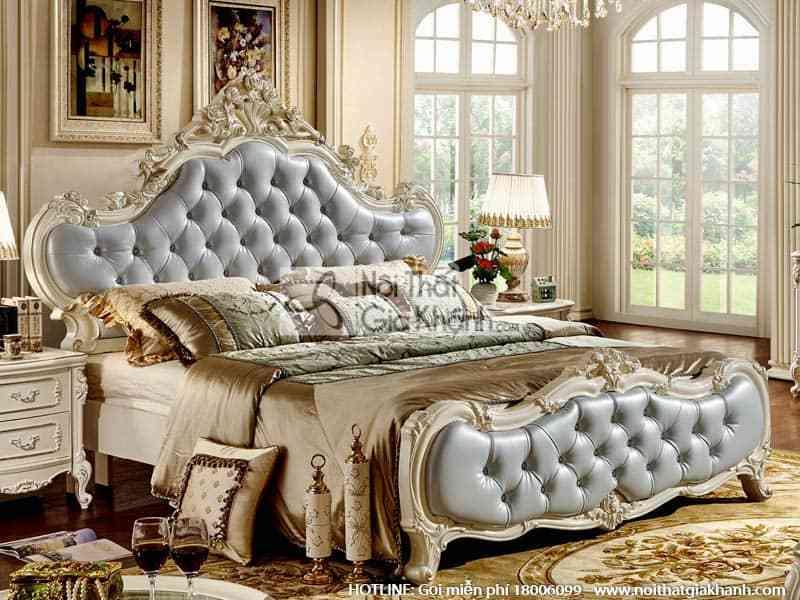 Giường ngủ đôi êm ái phong cách Pháp 8815A