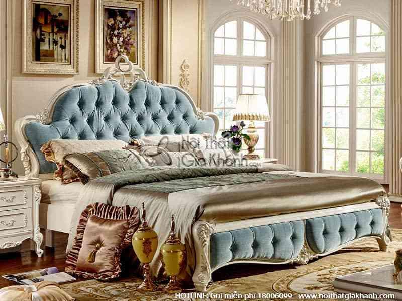 Giường ngủ đôi French White tinh tế 8812A