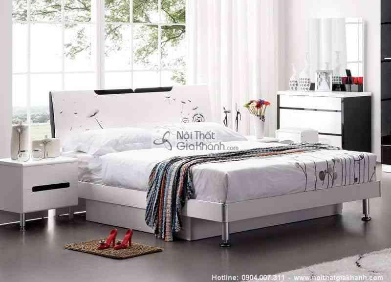 Giường ngủ đuôi pittong sang trọng cao cấp nhập khẩu 201A