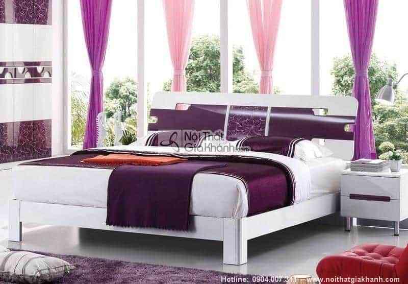 Những mẫu giường ngủ giá rẻ nhưng đẹp nhất - giuong ngu go cong nghiep hien dai lovely 1m5 nhap khau hd217s