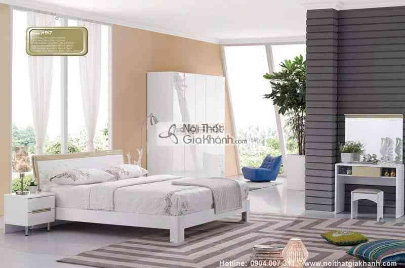 Giường ngủ hộp 1m5 cỏ may mắn HĐ917S