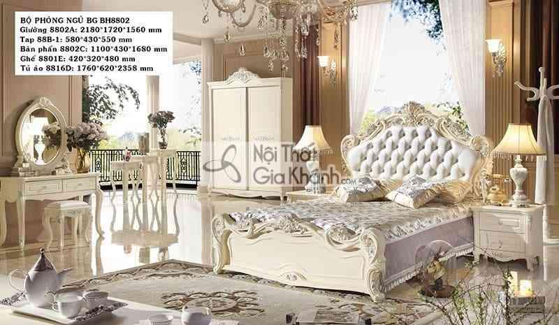 giuong ngu tan co dien go cong nghiep bh8802as - Bàn trang điểm gỗ công nghiệp giá rẻ BH8802C