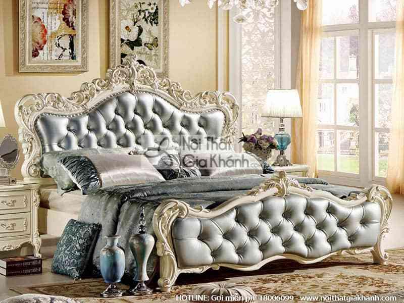 giuong ngu tan co dien phong cach phap h8803al - Bộ giường ngủ 1m8 phong cách Pháp 8803ABG