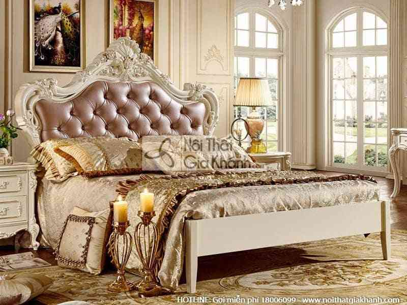 Giường ngủ tinh tế, sang trọng, phong cách Pháp 8110A